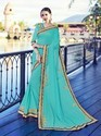 Royal Sky Blue Color Georgette Saree