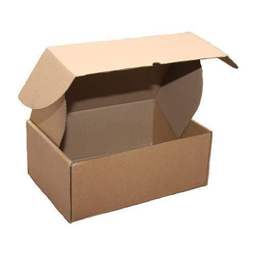 Brown Single Wall - 3 Ply Punching Corrugated Box 7'  x 5.25 '  x 4.25 inch for Pharmaceutical, Box Capacity: 500-750-1000 Gms