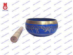 Nepali Singing Bowl Blue Patina