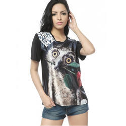 Polyester Ladies T Shirt Sublimation Printing Service