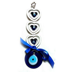 Feng Shui Evil Eye Hanging for Protection with Hearts