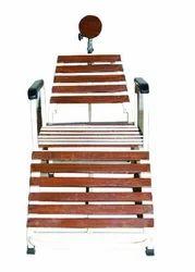 Stainless Steel Brown Nasya Chair