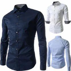 42.0 and 44.0 Full Sleeves Mens Designer Shirt