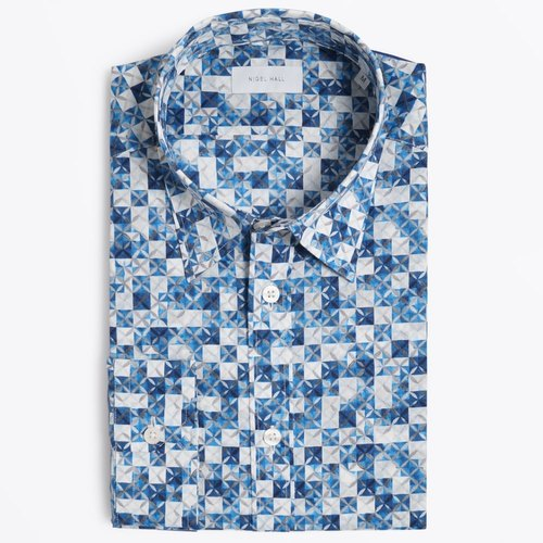 Collar Neck Mens Designer Printed Shirt