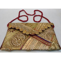 Golden Bikaner House Traditional Embroidered Bag