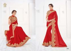 Red Rose Stylish Fancy Saree