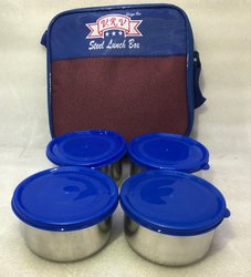 4 SS Containers Pouch Tiffin