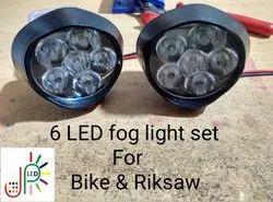 Head Lamp Plastic Bike Fog Lights, 12V