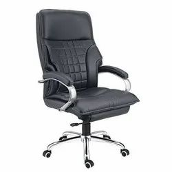 Comfotac Leather Black Revolving Office Chair, Warranty: 6 Month
