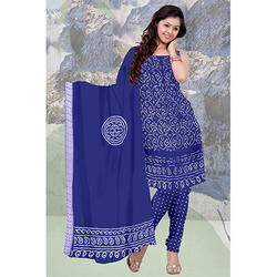Blue Bandhej Suit