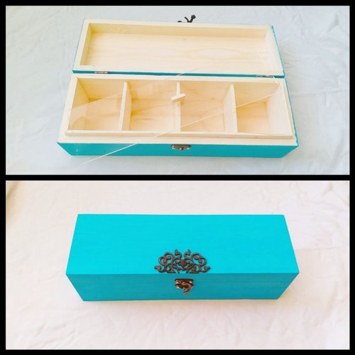 Natural wood Rectangle Decorative Wooden Box, For Home