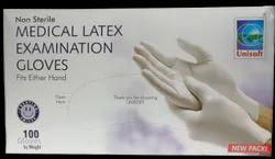 Unisofty Latex Medical Examination Gloves Medium Non Sterile
