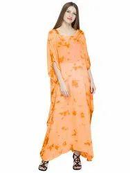 1a010e2e4298c Skavij Womens Kaftan Nightgown Tunic Embroidered Rayon Tie-Dye Dress Beach  Cover Up Plus Size
