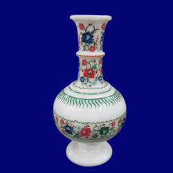 Marble Inlay Flowers Vase for Home Decor