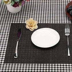 Brown Table Mat, Size: 12
