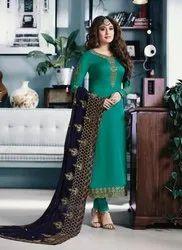 Kritika Kamra Designer Churidar Suits With Heavy Dupatta