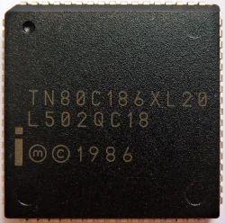 Intel 80C186XL-20 IC