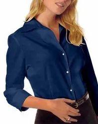 Hangerme 3/4 Inch Ladies Plain Formal Shirt, Packaging Type: Box, 120