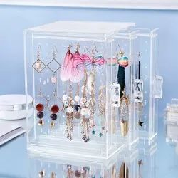 Storage Transparent Plastic Storage Box Jewelry Organizer (ITN-728-105).