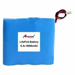 Lifepo4 Battery Pack 6.4V 9000 Mah