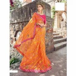 Casual Wear Bandhani Saree