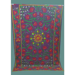 Beautiful Floral Embroidered Cotton Printed Bedsheet