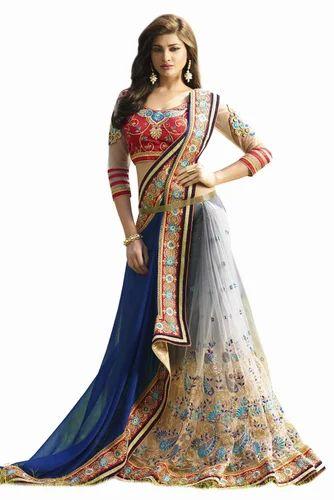 5bd33c592e Chiffon And Net Party Wear Half N Half Saree at Rs 4979 /piece ...