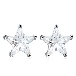 Cute Star Shaped Stud Earrings Star Shaped Diamond Earring