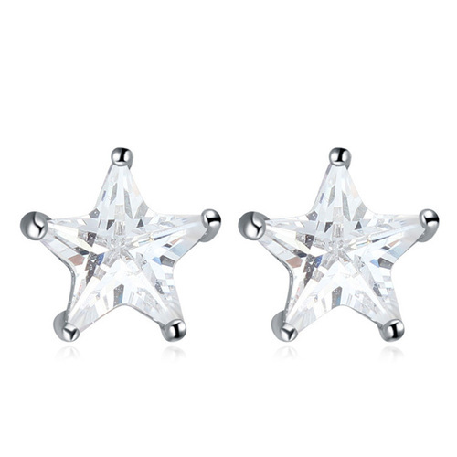 Cute Star Shaped Stud Earrings Diamond Earring