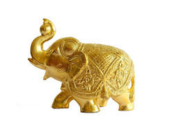 Elephant Statue Gold Plated