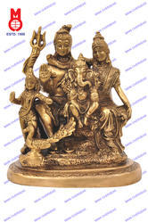 Lord Shiva Family W/Kartik On Designer Base Statue