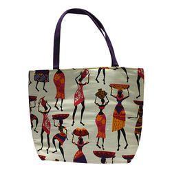 Worli Print Jute Handbags