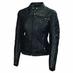 Black Full Sleeve Women Leather Jacket