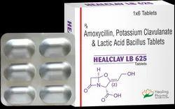 Healclav LB 625 - Amoxycillin, Potassium Clavulanate & Lactic Acid Bacillus