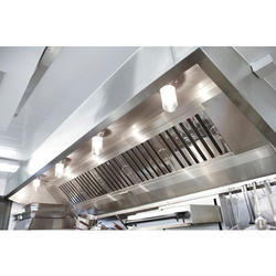 Stainless Steel Kitchen Exhaust Hood, For Commercial Kitchen