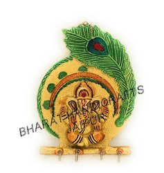 Gold Plated Ganesh Meena Key Holder