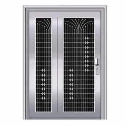 Single Door Stainless steel Polished Safety Doors, For Residential