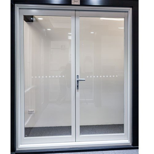 White Swing Office Aluminum Door
