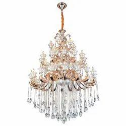 Crystal LED Jaquar Vela Tiered Candle Hanging Chandelier