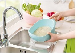 Candy Color Kitchen Use Rice Wash Pot Plastic Drainer