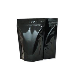 Black Standup Pouch With Zipper