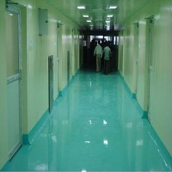 Epoxy Hospital Flooring, Thickness: 1mm To 2mm