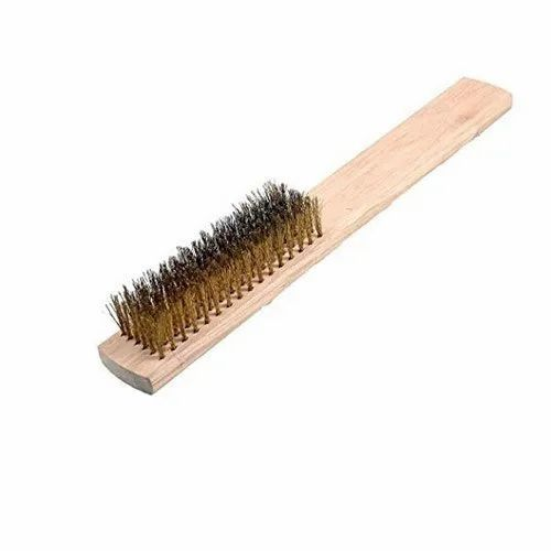 Stainless Steel Wooden Handle Wire Brush 1 2 Inch 11 15 Inch