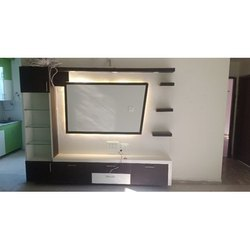 Brown LED TV Cabinet Panel, Warranty: 1 Year