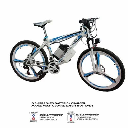 White Tygatec E-Bike-Bicycle, Age Group: Above 8
