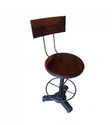 Artisans Rose Wheels Bespoke High-Back Bar Stool
