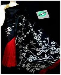 Black And Red Women Saree MUR006