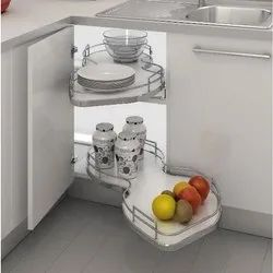 Stainless Steel Swing Corner Kitchen Rack