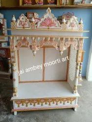 Golden Handcrafted White Marble Temple