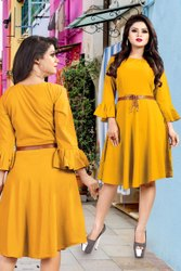 Ladies Yellow Dress